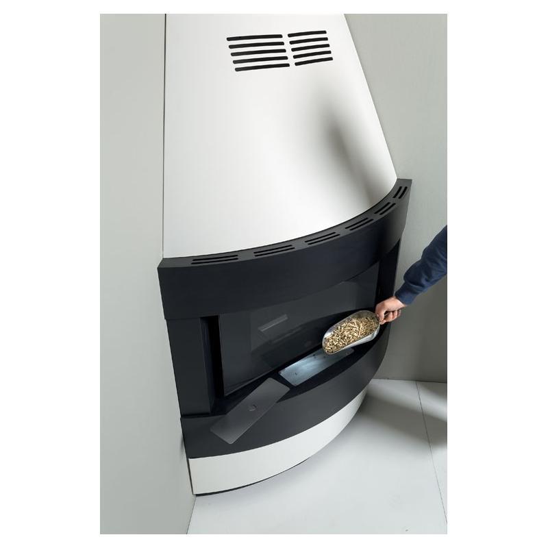Cheminée à granulés ventilé - EVACALOR Raffaello 11.5 kw