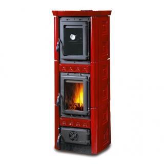 Poêle à bois revêtement en faïence - NORDICA Gaia Forno 7,3 kW