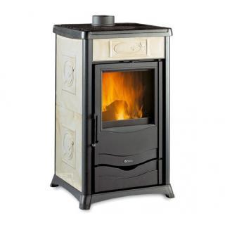 Poêle à bois revêtement en faïence - NORDICA Rossella Plus 9,9 kW