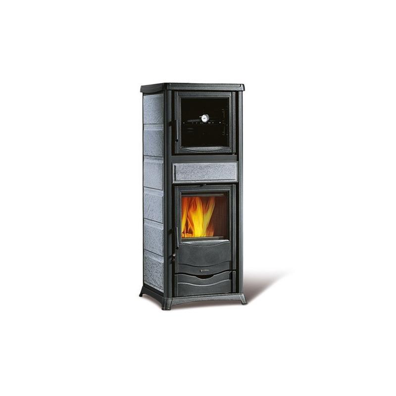 Poêle à bois avec four en pierre naturelle - LA NORDICA Rossella Plus Forno Evo 10,6 kW