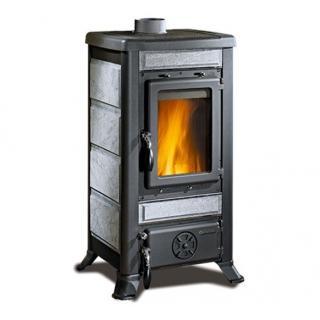 Poêle à bois revêtement en pierre naturelle - NORDICA Fulvia Pierre 7,3 kW