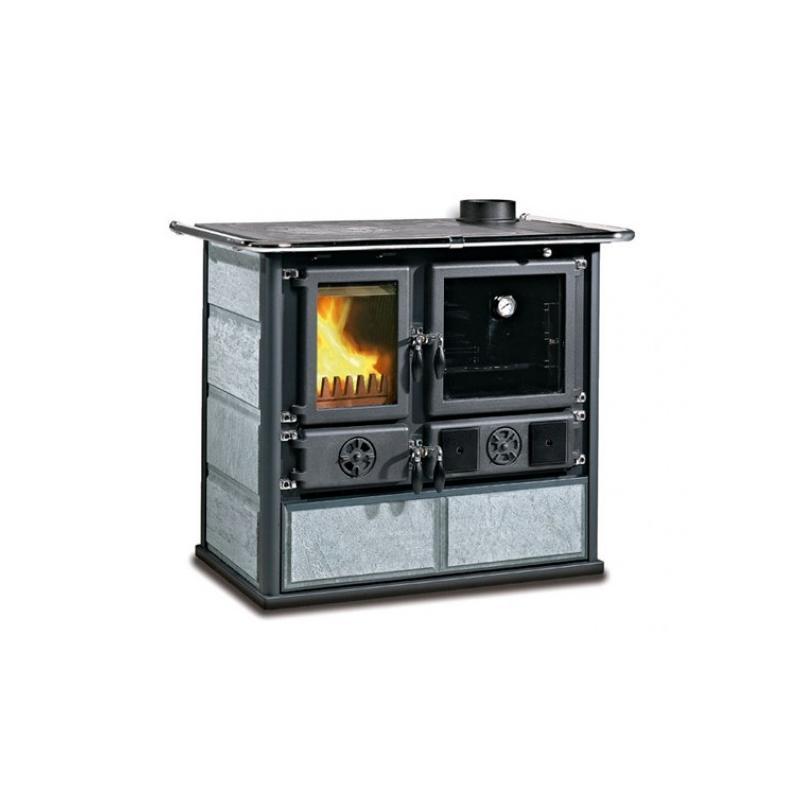Cuisinière à bois revêtement pierre naturelle - NORDICA Rosa 4.0 Pierre 8,4 kW