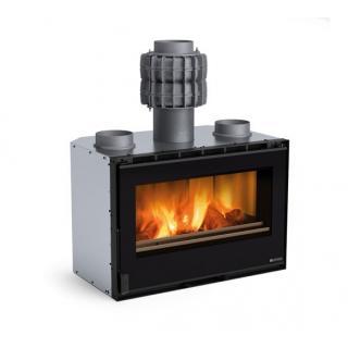 Insert à bois ventilé - NORDICA Inserto 80 PRS Crystal 9,5 kW