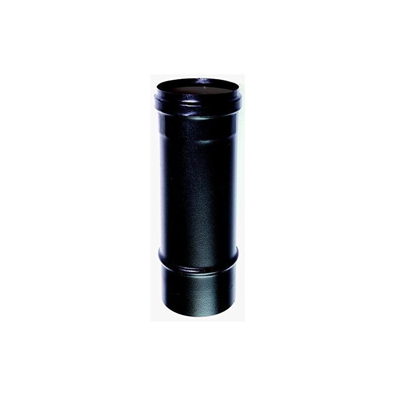 Elément droit 25 cm acier noir
