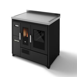 Cuisinière à granulés avec four ventilé - EVACALOR Enrica 9 kW