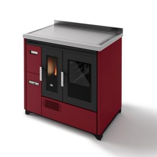 Cuisinière à granulés avec four ventilée - EVACALOR Enrica 9 kW