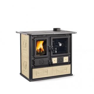 Cuisinière à bois revêtement faïence - NORDICA Rosa 4.0 8,4 kW
