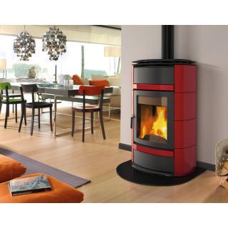 Thermo poêle à bois céramique et fonte LA NORDICA Norma S Idro DSA 19,5kW