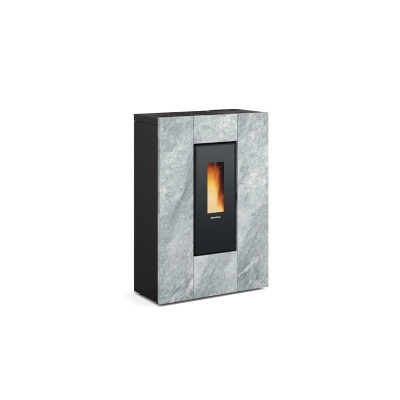 Poêle à granules ventilé extra plat canalisable - EXTRAFLAME Marilena Plus AD Petra 8 kW