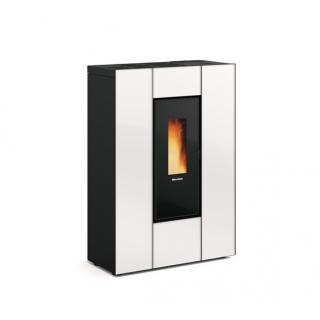 Poêle à granules ventilé extra plat canalisable - EXTRAFLAME Marilena Plus AD Crystal 8 kW