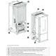 Poêle à granules étanche céramique debrayable -EXTRAFLAME Wendy 10 kW étanche