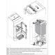 Poêle à granules thermo hydraulique - EXTRAFLAME Diadema ACS Idro