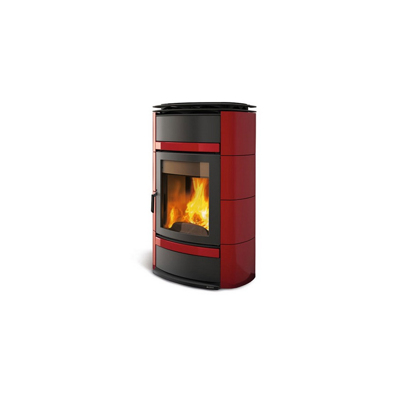 Thermo poêle à bois céramique et fonte LA NORDICA Norma S EVO Idro DSA 17,5 kW