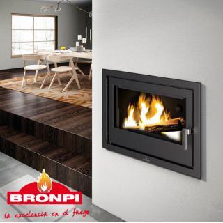 Insert à bois chauffage central - BRONPI HydroBronpi 80-E 27 kW