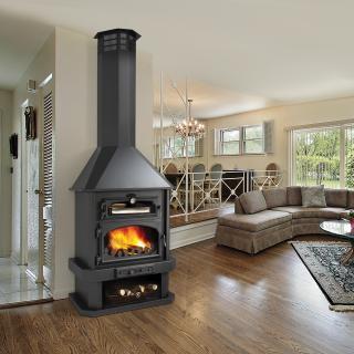 Poêle à bois cheminée avec four - BRONPI Ebro 14 KW